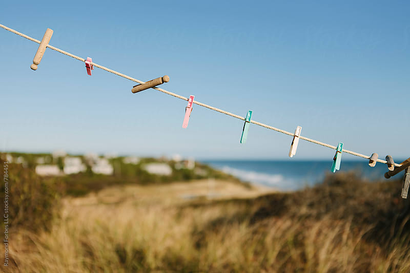 Clothesline Cape Cod by Raymond Forbes LLC for Stocksy United