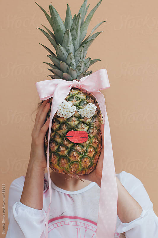 Ananas head by Beatrix Boros for Stocksy United