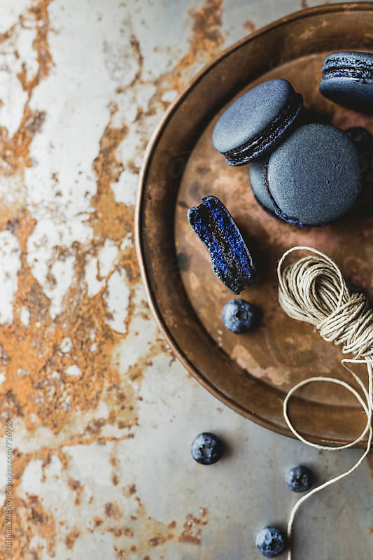 Blueberry macaroons by Tatjana Ristanic for Stocksy United