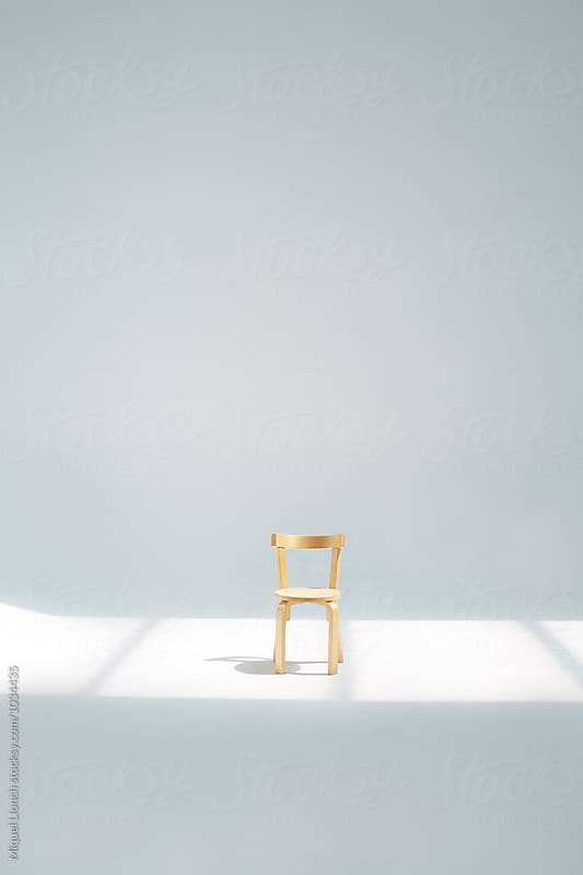 Little chair for children in the studio by Miquel Llonch for Stocksy United