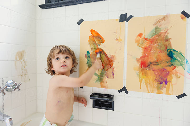 Bathtub Artist  by Cameron Whitman for Stocksy United