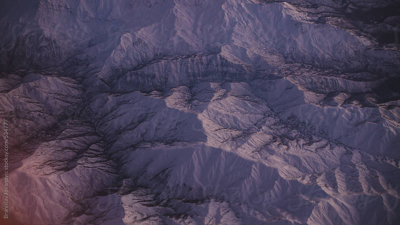 Aerial view of the mountain range by Brkati Krokodil for Stocksy United