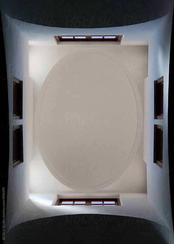 Symmetrical ceiling in Mosque of Córdoba by ACALU Studio for Stocksy United