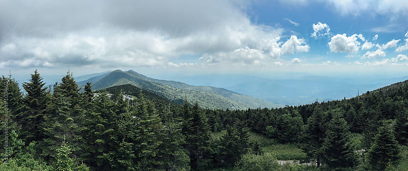 View of the Smoky Mountains from Mount Mitchell State Park by Adam Nixon for Stocksy United