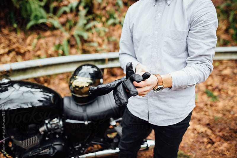 Café Racer Rider Gloves by Luke Mattson for Stocksy United