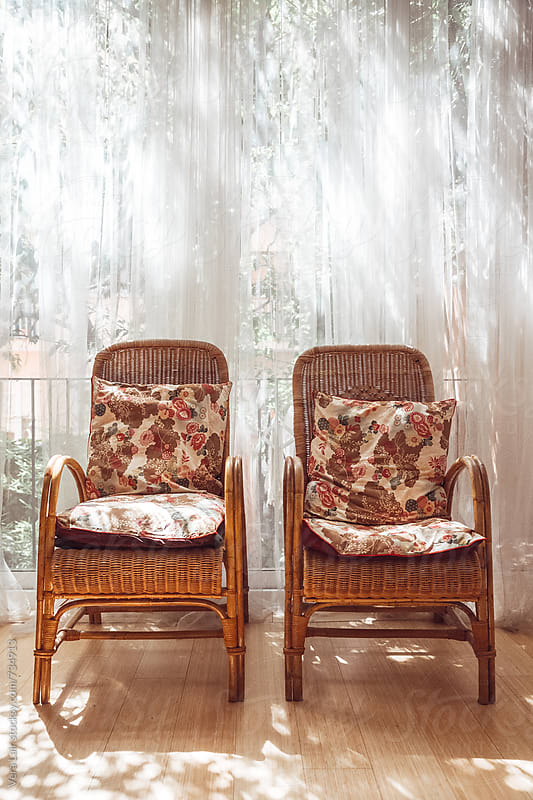 Wicker armchair by Vera Lair for Stocksy United