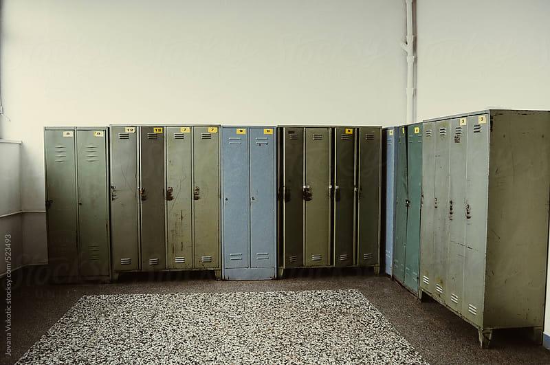 lockers in the room by Jovana Vukotic for Stocksy United