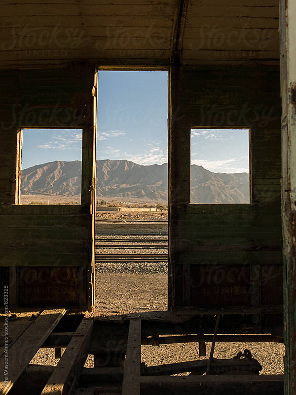 A view from the windows of an old railroad boggy  by Agha Waseem Ahmed for Stocksy United