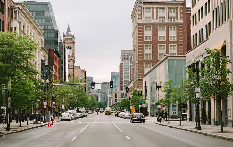 Boylston Street in Boston City View by Raymond Forbes LLC for Stocksy United