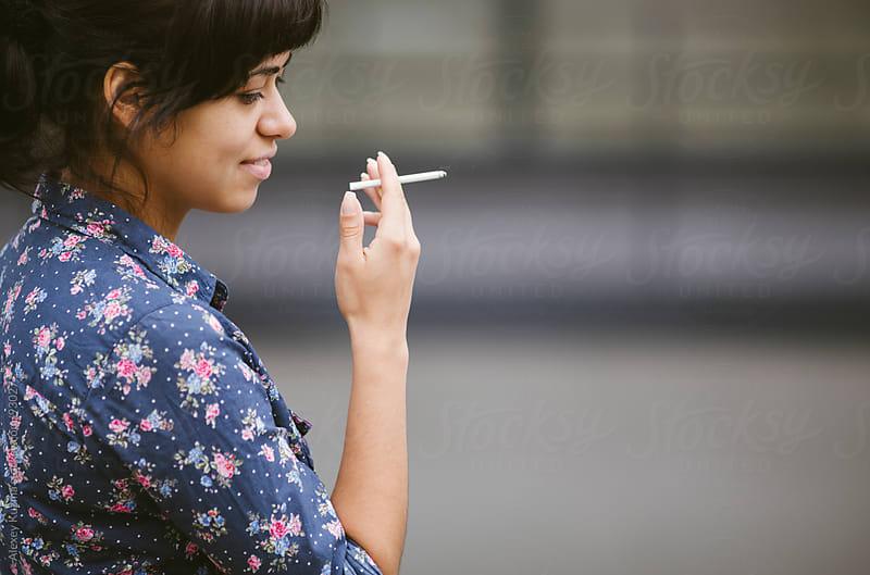 smoking by Alexey Kuzma for Stocksy United