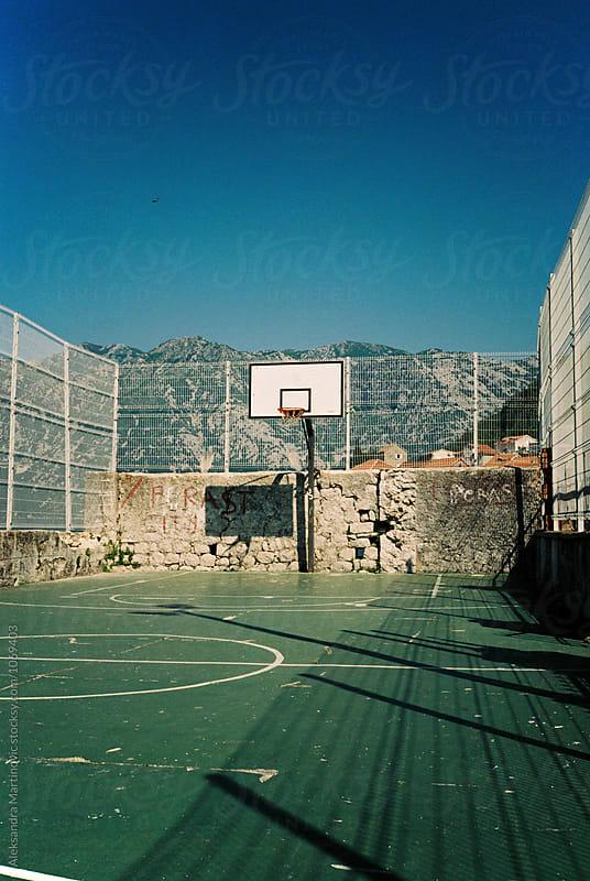Basketball court by Aleksandra Martinovic for Stocksy United