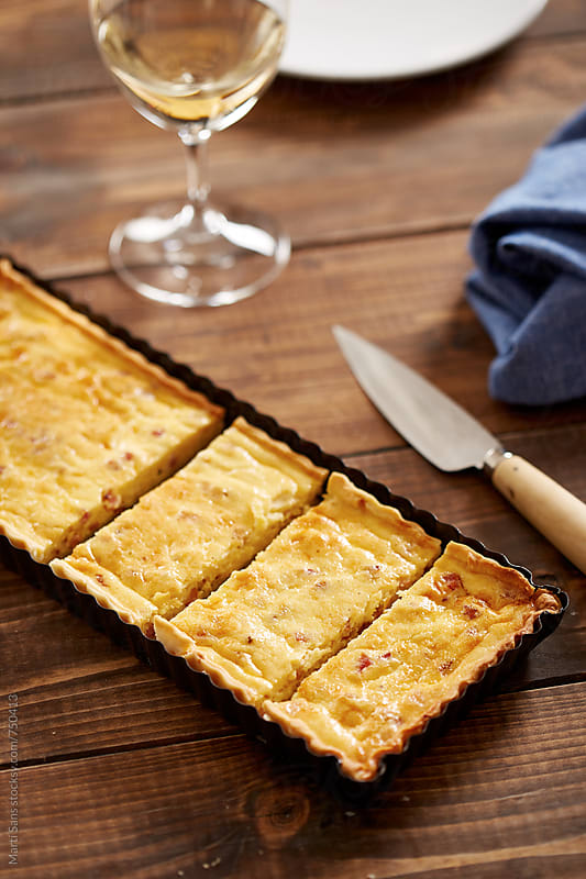 Quiche lorraine in portions by Martí Sans for Stocksy United