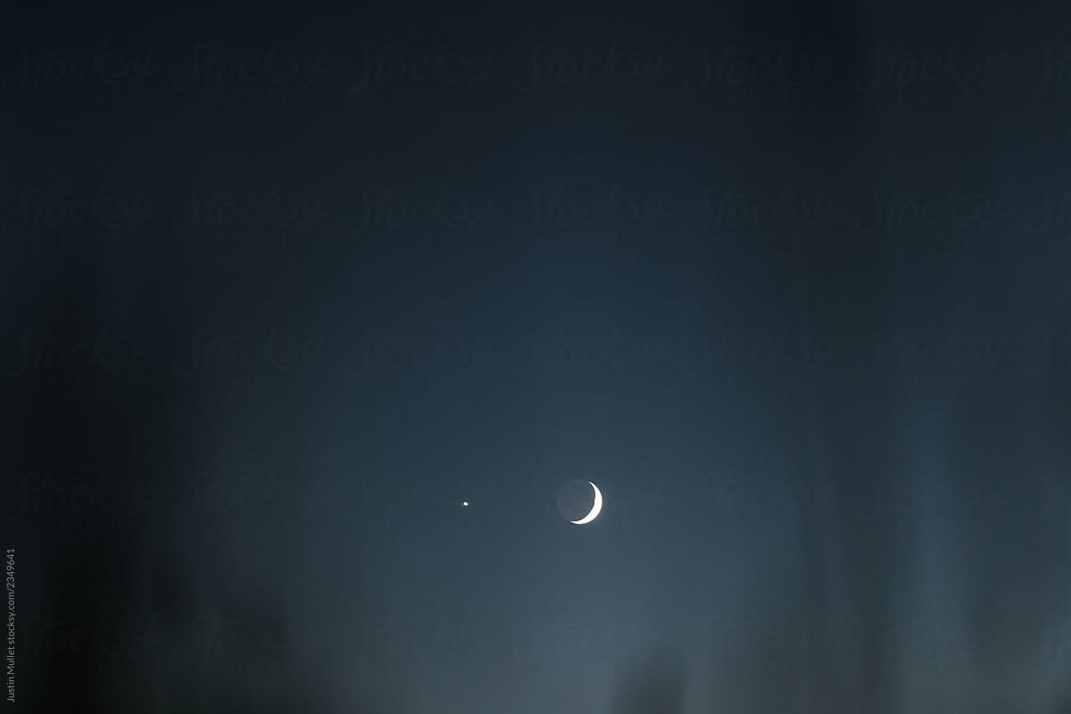 Stock Photo - Moon Venus Conjunction