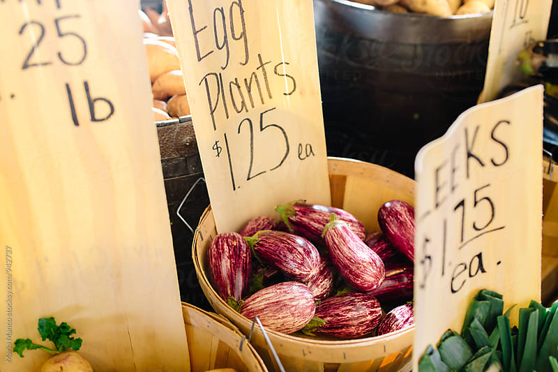 Vegetable for sale at farmers market by Maria Manco for Stocksy United