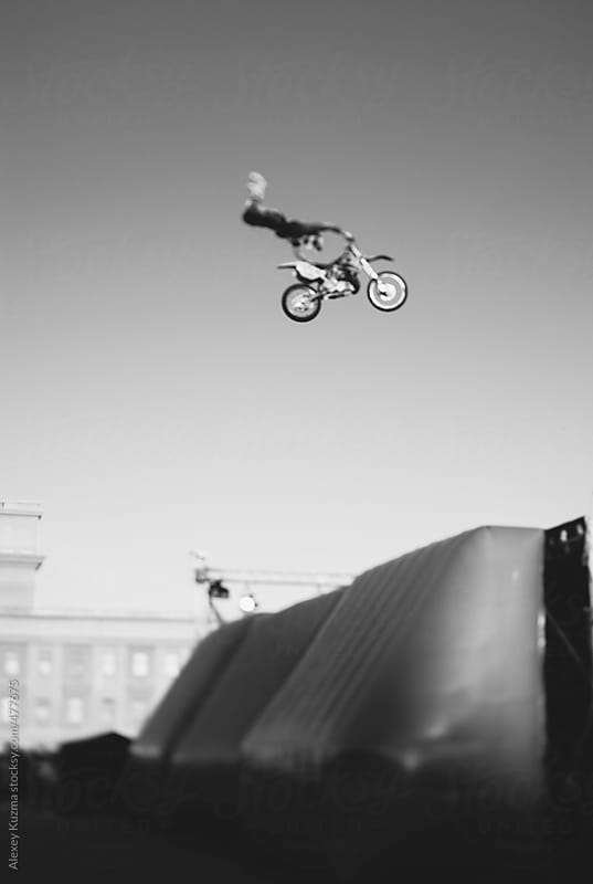 freestyle tricks in the air by Alexey Kuzma for Stocksy United