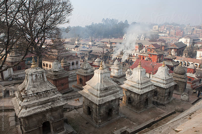 The Pashupatinath Temple premises in Kathmandu Valley. by Shikhar Bhattarai for Stocksy United