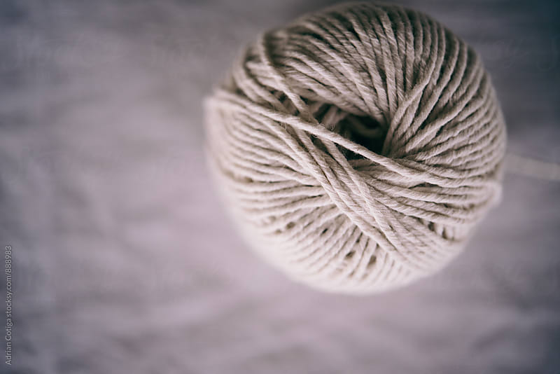 Ball of Natural String; Hemp twine by Adrian Cotiga for Stocksy United