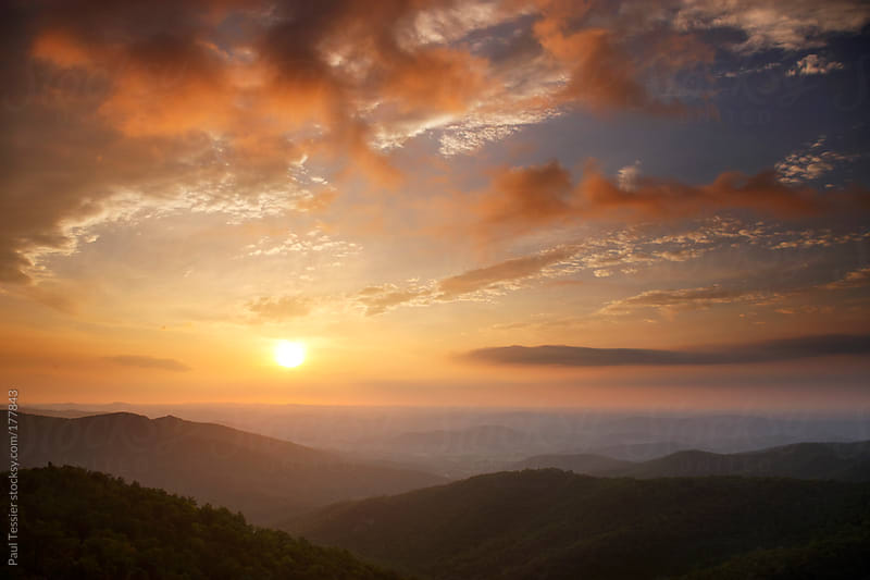 Appalachian Mountain Sunrise by Paul Tessier for Stocksy United