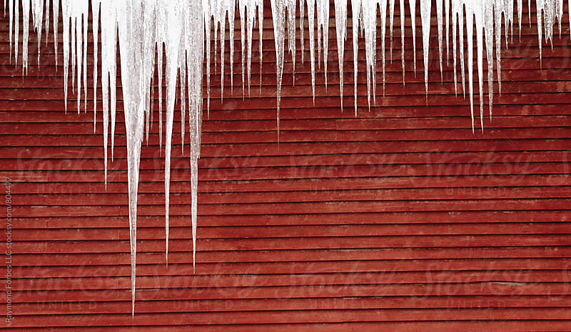 Icicles on Barn by Raymond Forbes LLC for Stocksy United