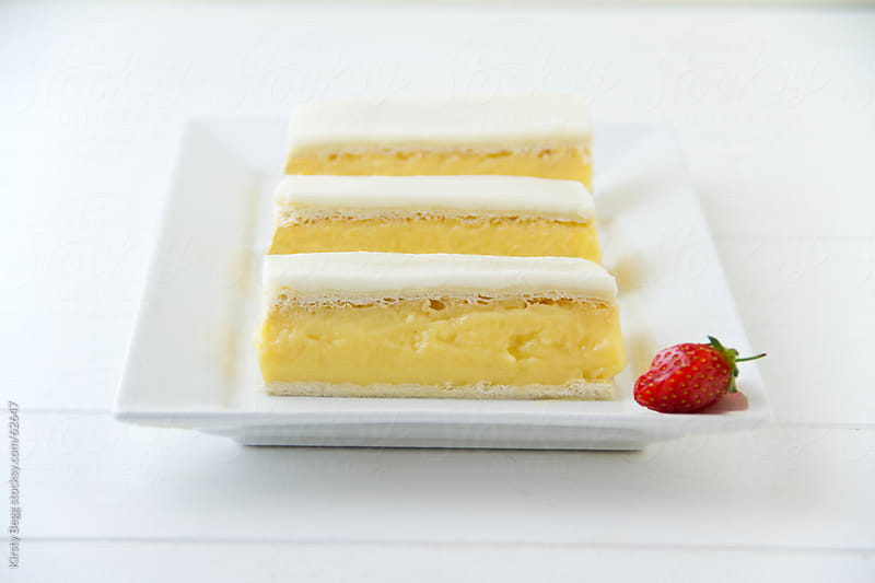 Vanilla Custard Slice Trio by Kirsty Begg for Stocksy United