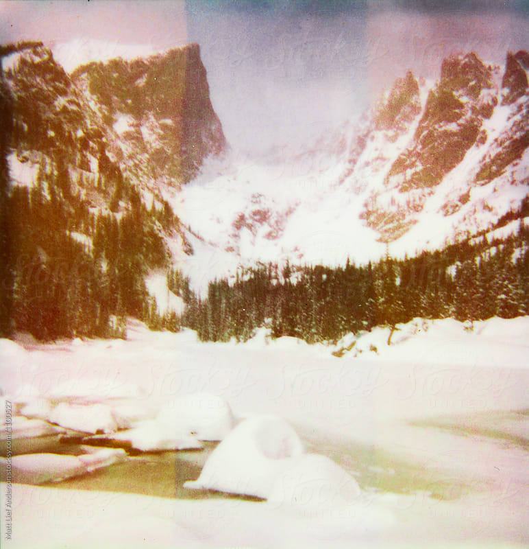 Dream Lake, Polaroid by Matt Lief Anderson for Stocksy United