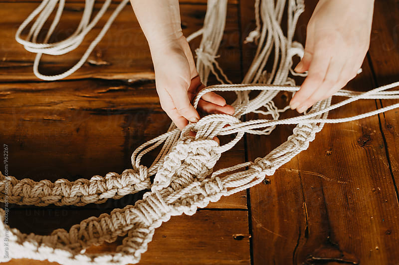 Macrame Knotting by Sara K Byrne Photography for Stocksy United