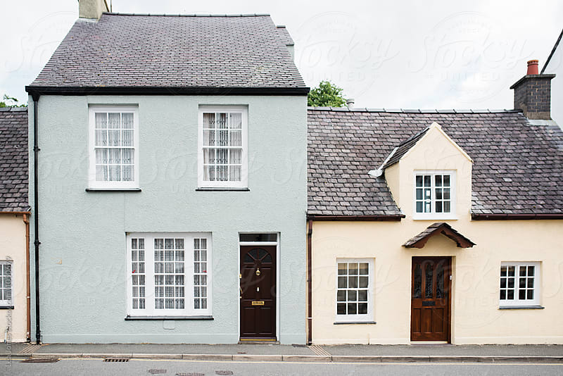 houses in a street in Wales by Léa Jones for Stocksy United