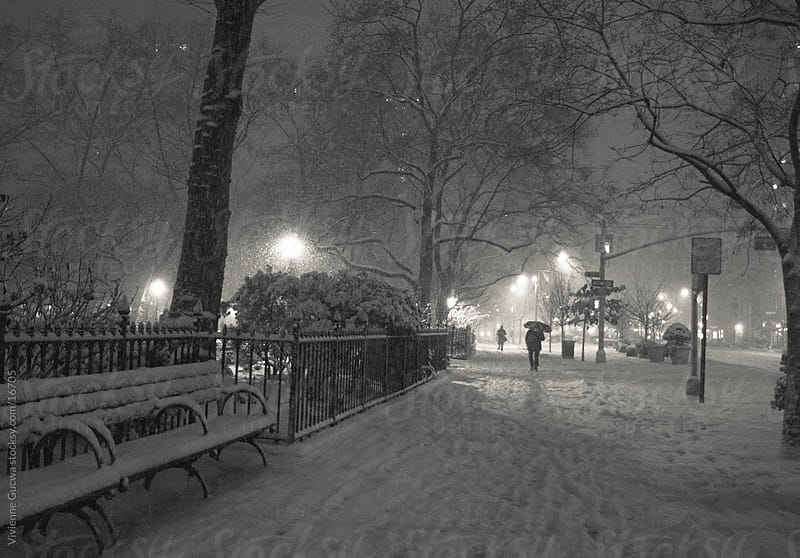 New York Winter - Snow-Covered Sidewalk by Vivienne Gucwa for Stocksy United