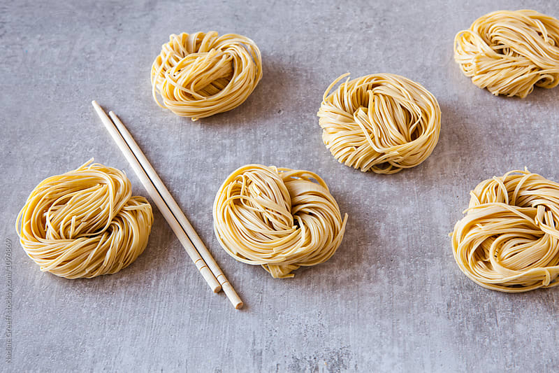 Dried egg noodles by Nadine Greeff for Stocksy United
