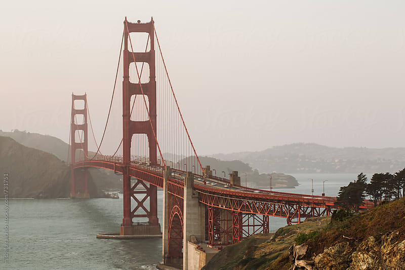 View of Golden Gate Bridge, San Francisco Bay by michela ravasio for Stocksy United