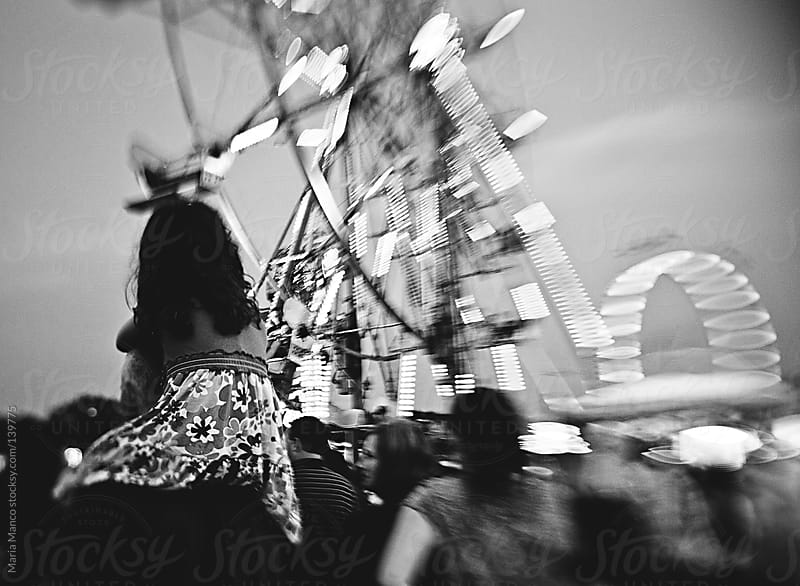 Child on Parents Shoulder at Carnival by Maria Manco for Stocksy United