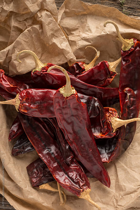 Mexican Food Ingredient: Guajillo  Chile Pepper by Studio Six for Stocksy United