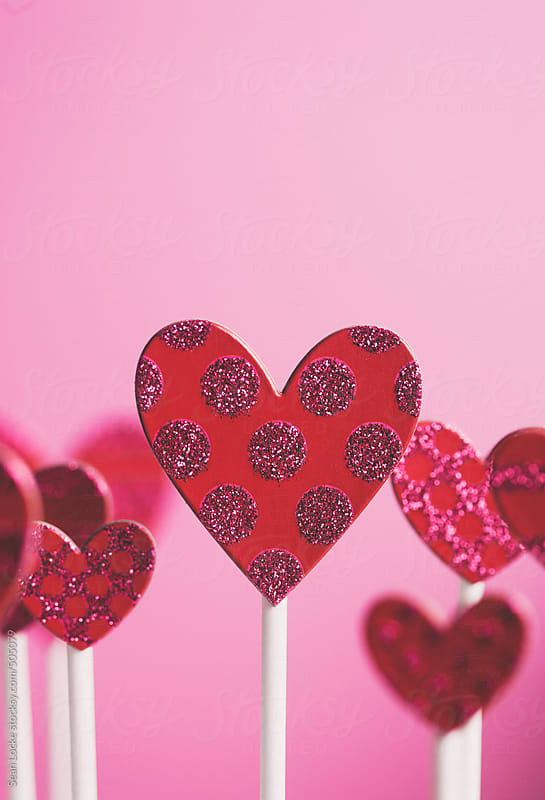 Valentine: Multiple Hearts On Pink Background Show Love by Sean Locke for Stocksy United