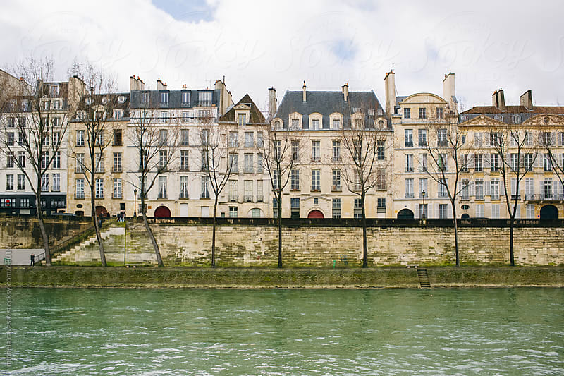 Old buildings along the Seine by michela ravasio for Stocksy United