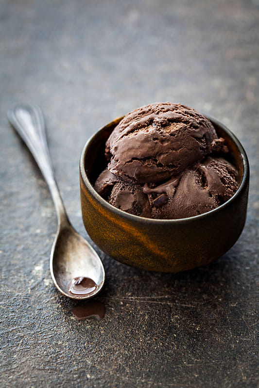 Chocolate ice cream  by Corinna Gissemann for Stocksy United