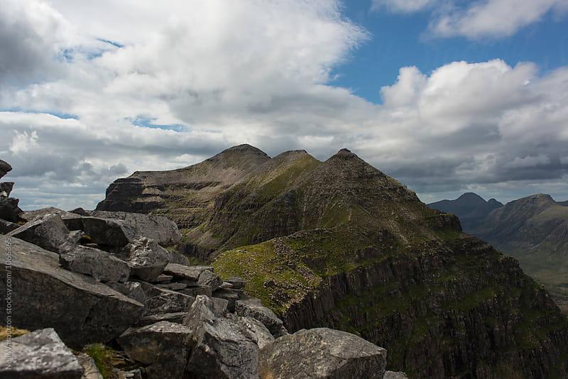 mountain ridgeline in Scotland by Neil Warburton for Stocksy United