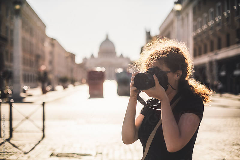 Tourist Taking Photos in the Vatican by Lumina for Stocksy United
