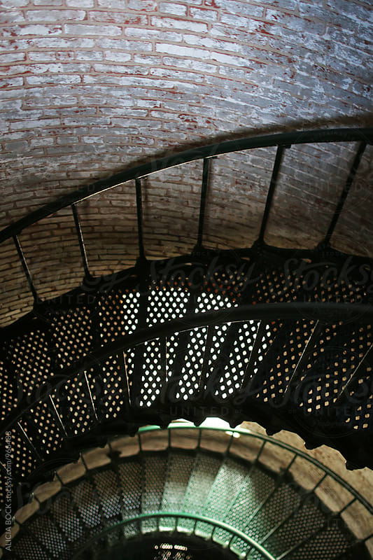 The Staircase Inside An Atlantic Coast Lighthouse by ALICIA BOCK for Stocksy United