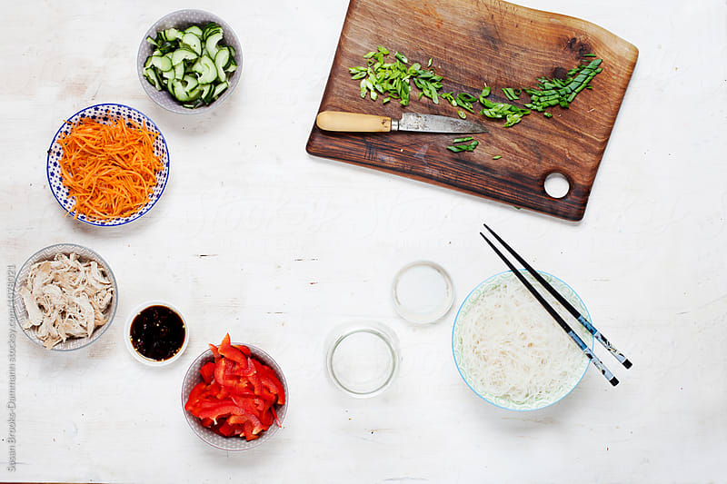 Ingredients for Vermicelli-Salad by Susan Brooks-Dammann for Stocksy United