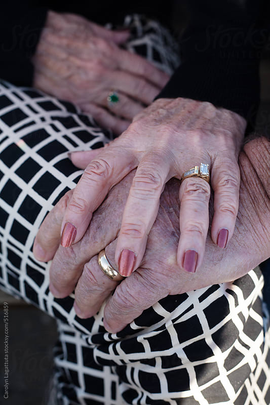 Hands of a couple married over 50 years by Carolyn Lagattuta for Stocksy United