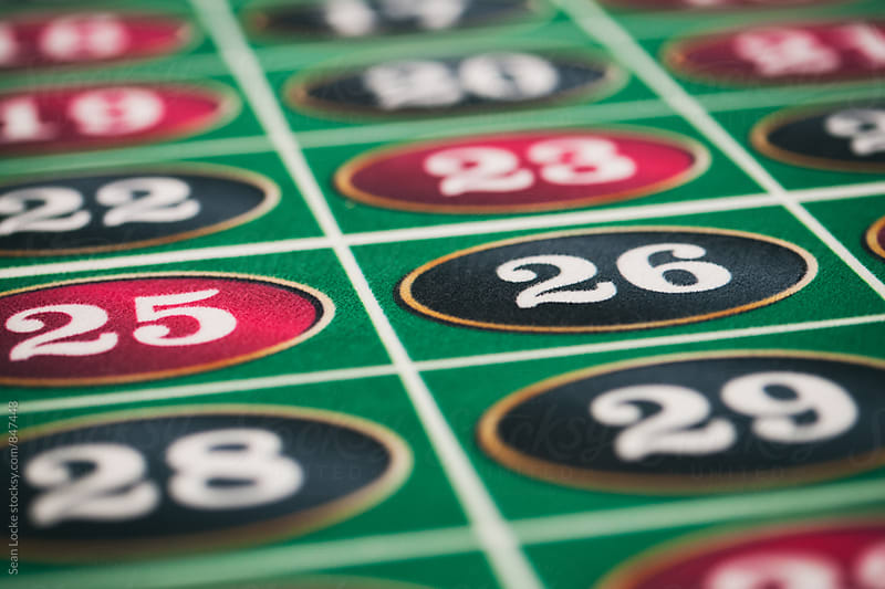 Casino: Numbers On A Roulette Table Wait For Bets by Sean Locke for Stocksy United