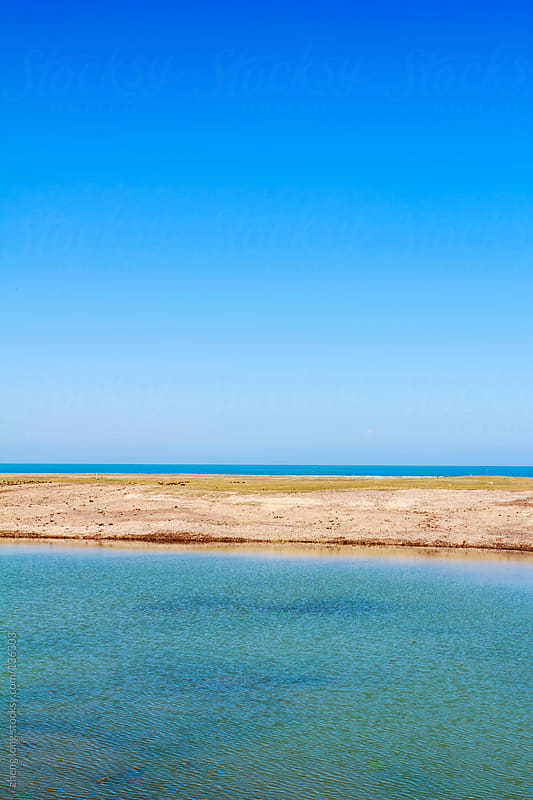 Qinghai lake,the biggest lake of China by zheng long for Stocksy United