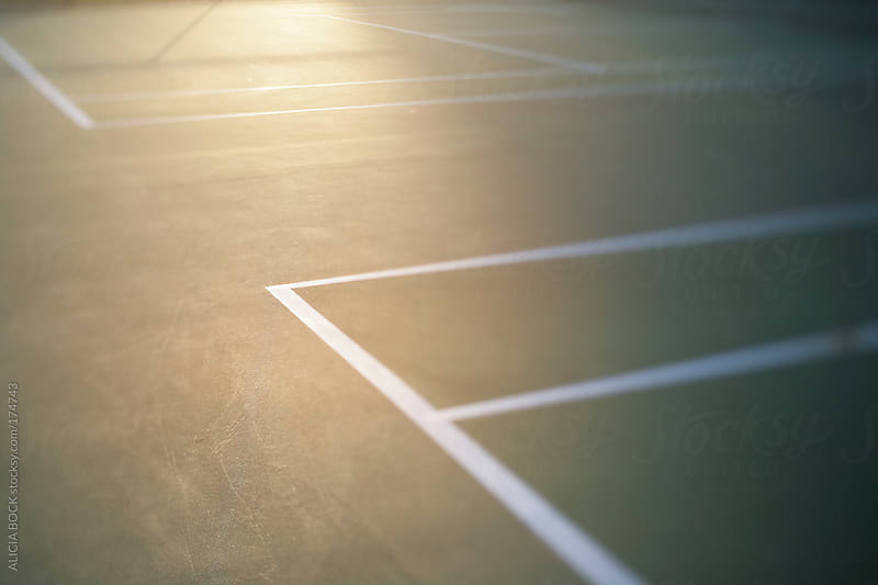 Tennis Court Lines by ALICIA BOCK for Stocksy United