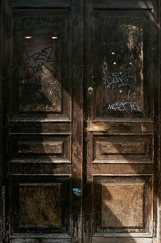 Wooden door by Yury Goryanoy for Stocksy United