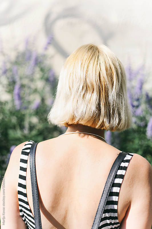 Blonde woman from the back by Marija Kovac for Stocksy United