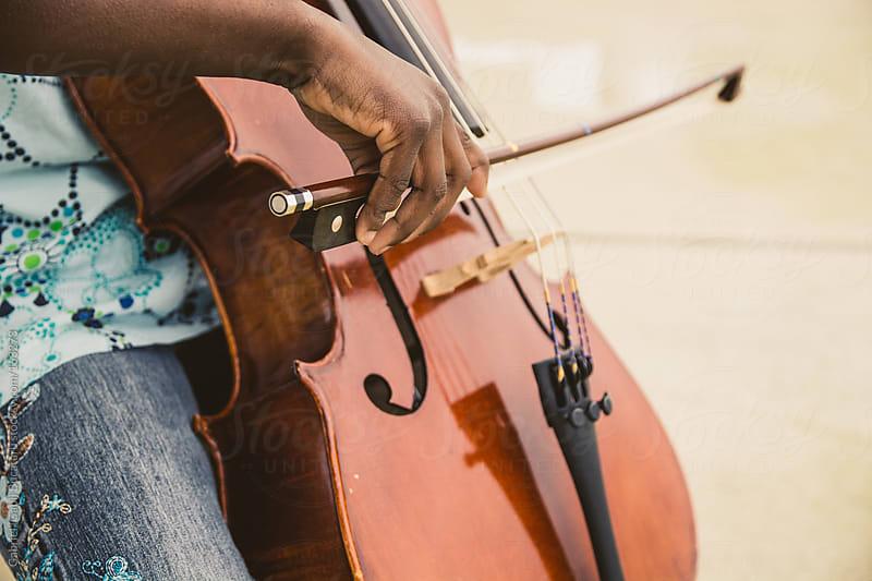 Playing Cello by Gabriel (Gabi) Bucataru for Stocksy United