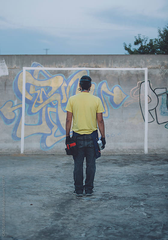 Graffiti painter by CACTUS Blai Baules for Stocksy United