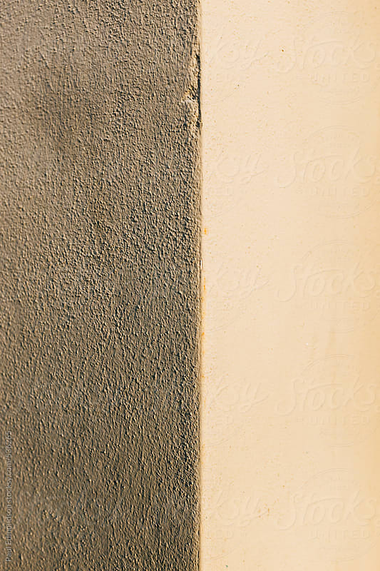 Corner of painted, brown wall, close up by Paul Edmondson for Stocksy United