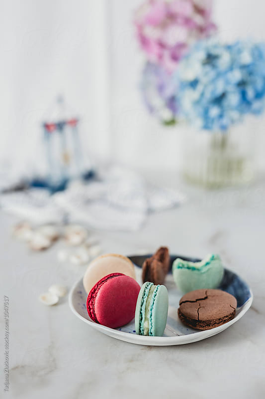 French macarons with summer decoration by Tatjana Ristanic for Stocksy United