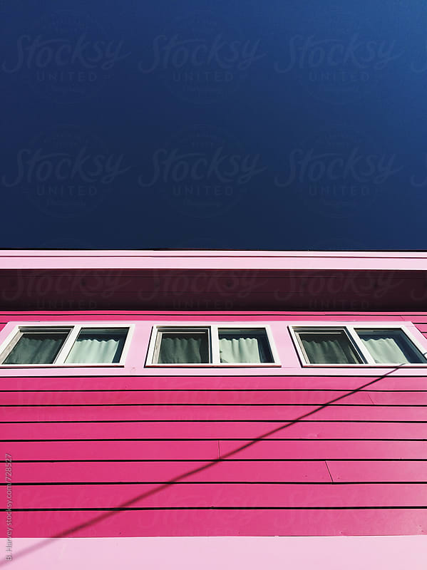 Pink House / Blue Sky by B. Harvey for Stocksy United